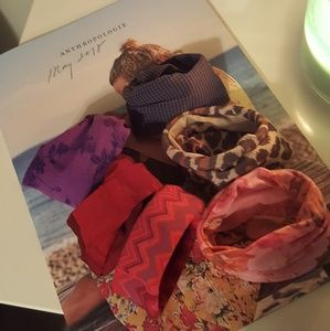 Lot of 6 hair scrunchies ties from urban outfitter